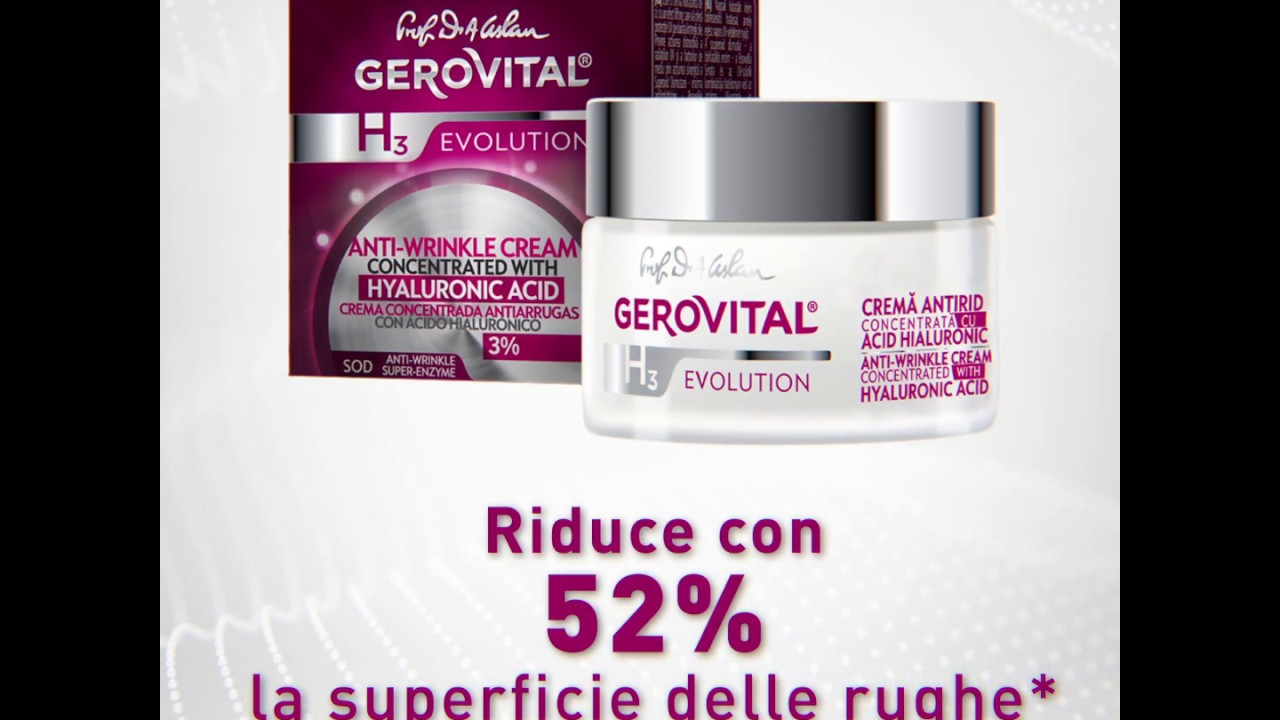 Crema Antirughe concentrata con Acido Ialuronico 3%..