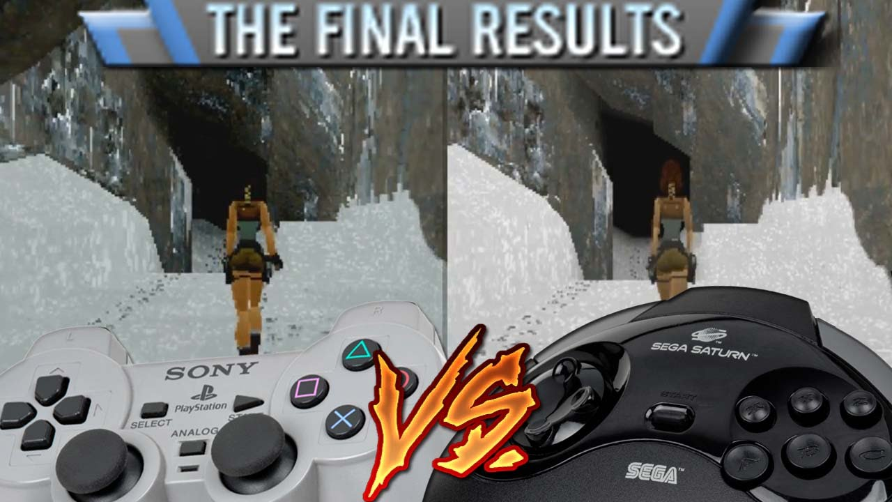 Playstation Vs Sega Saturn Tomb Raider The Final Results Youtube