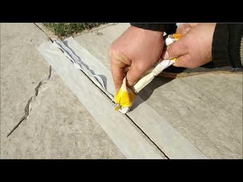 Как сделать деформационный шов в бетонной отмостке, дорожке и тд
