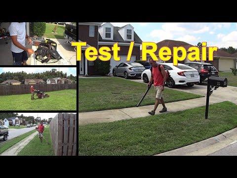 Cutting Grass - Homelite Back Pack Blower UTO-8111 Repair / Test - Mowing My Monday Lawn #SideHustle