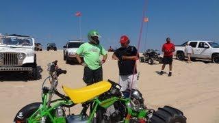 Homemade Quad with Hayabusa Engine at Silver Lake Sand Dunes / Ambassador Dan