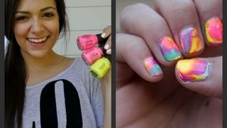 Marble your nails for Summer! (Tie dye inspired tutorial)