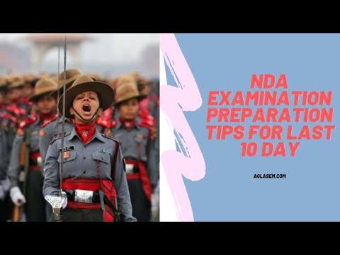 NDA Examination Preparation Tips for Last 10 Day