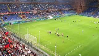 Genoa - Lecce: la festa finale e il nuovo coro della gradinata nord