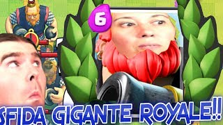 CLASH ROYALE!! GIANT CHALLENGE ROYALE!! DECK HOGRIDER 4300 +!! Friendly and 2V2 with YOU!! INTREPID PIGS!!