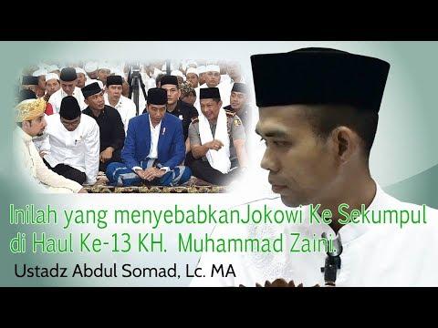 Inilah penyebab Kehadiran Presiden RI Jokowi ke Haul Akbar KH.Muhammad Zaini di Sekumpul Martapura