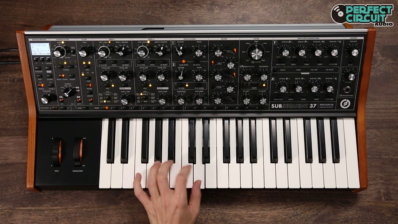 Moog Subsequent 37 Sounds Youtube