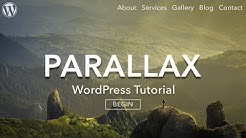 How to Make a Parallax WordPress Website - 2018 - AMAZING!