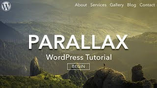 How to Make a Parallax WordPress Website - 2019 - AMAZING!