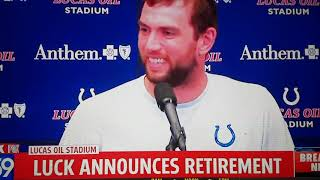 ANDREW LUCK EXPLAINS AND ANSWERS QUESTIONS ON WHY HE'S RETIRING