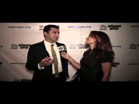 """Actor Pej Vahdat of """"BONES"""" on the Red Carpet : 2013 MPAC Media Awards"""