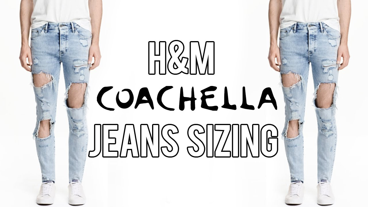 h m x coachella jeans sizing look youtube. Black Bedroom Furniture Sets. Home Design Ideas