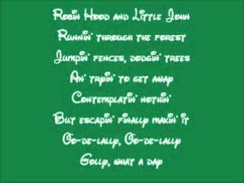 Robin Hood-Oo-De-Lally Lyrics
