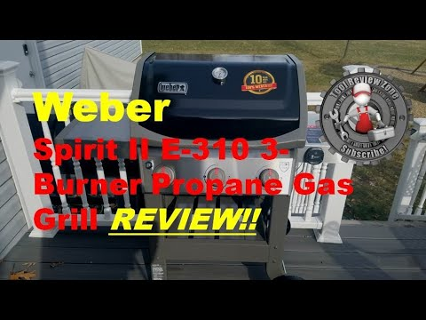 weber spirit ii e 310 3 burner propane gas grill with igrill3 review youtube. Black Bedroom Furniture Sets. Home Design Ideas