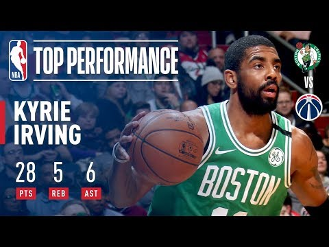 Kyrie Irving Weaves Through the Wizards With Big 28-Point OT Outing | February 8, 2018