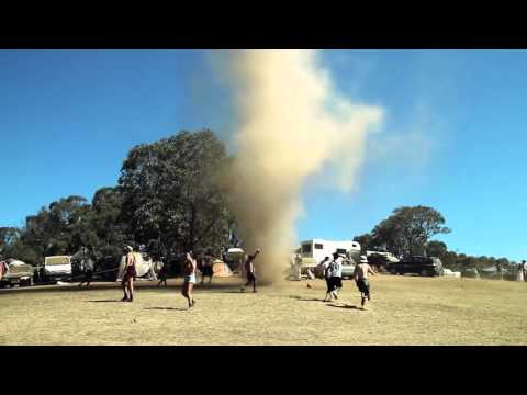 Dancing with a tornado in Australia