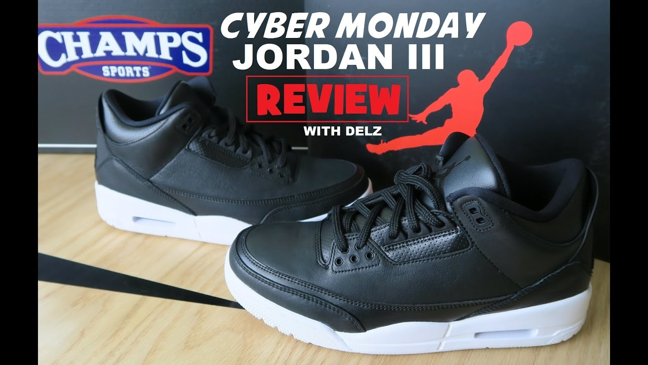 defba789db0147 Air Jordan 3 Cyber Monday Retro Sneaker Review + On Foot - YouTube