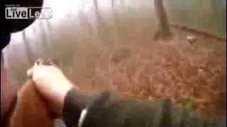 На охоте кабан сбил с ног охотника! Куда охотник смотрел?