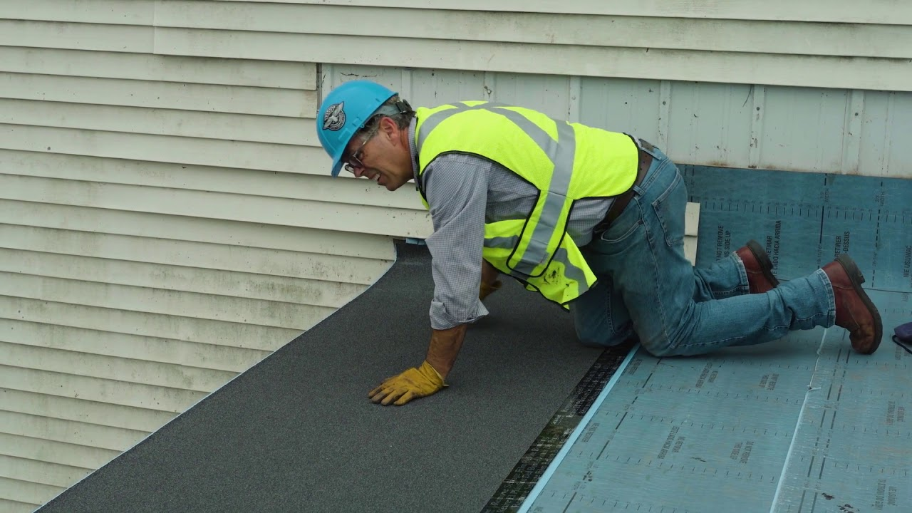 Installing Flintlastic Sa Self Adhered Roofing Membranes In Cold Temperatures Youtube