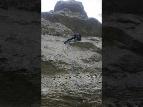 Free-Climbing im Ith Krokodil Talseite