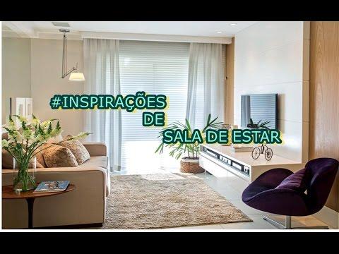 Decora o de sala de estar pequena inspira o youtube - Salas de estar pequenas ...