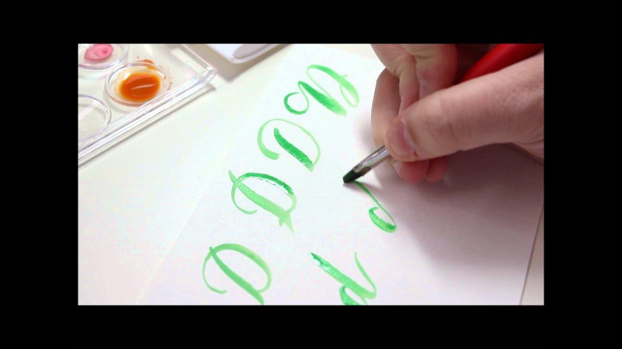 Watercolor Brush Calligraphy