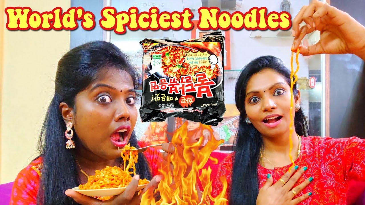 SPICY NOODLES CHALLENGE TAMIL | Samyang Challenge? |  Ani's Tamil Lifestyle