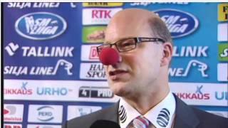 Risto Dufvan haastattelut nenäpäivänä (Tappara - Lukko 4.11.2011 2-0)