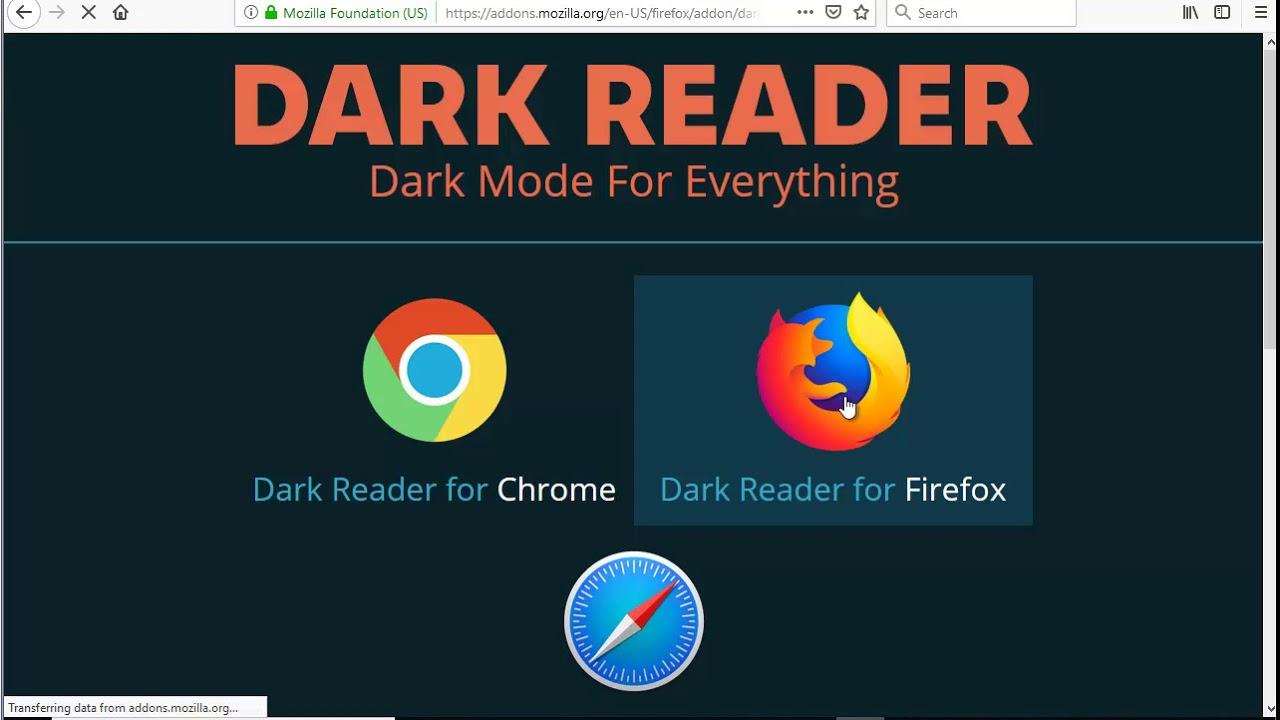 dark reader firefox