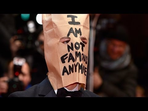 Shia LaBeouf Wears Paper Bag & Suffers Mini Meltdown! VIDEO