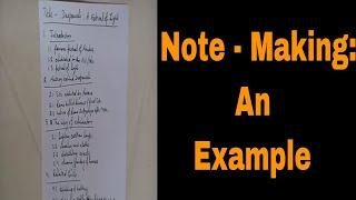 Note - Making: An Example