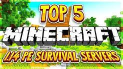 TOP 5 OP SURVIVAL SERVERS MCPE 1.14+ 2020 [HD] (New Big Minecraft Servers)