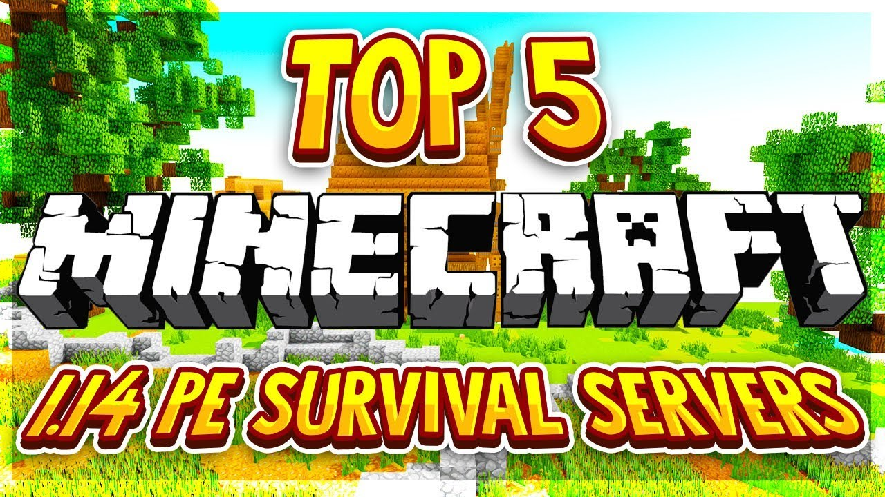 Top 5 Op Survival Servers Mcpe 1 14 2020 Hd New Big Minecraft Servers Youtube