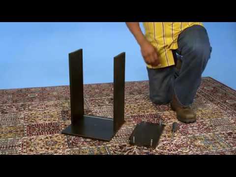 ikea hemnes desk assembly instructions youtube. Black Bedroom Furniture Sets. Home Design Ideas