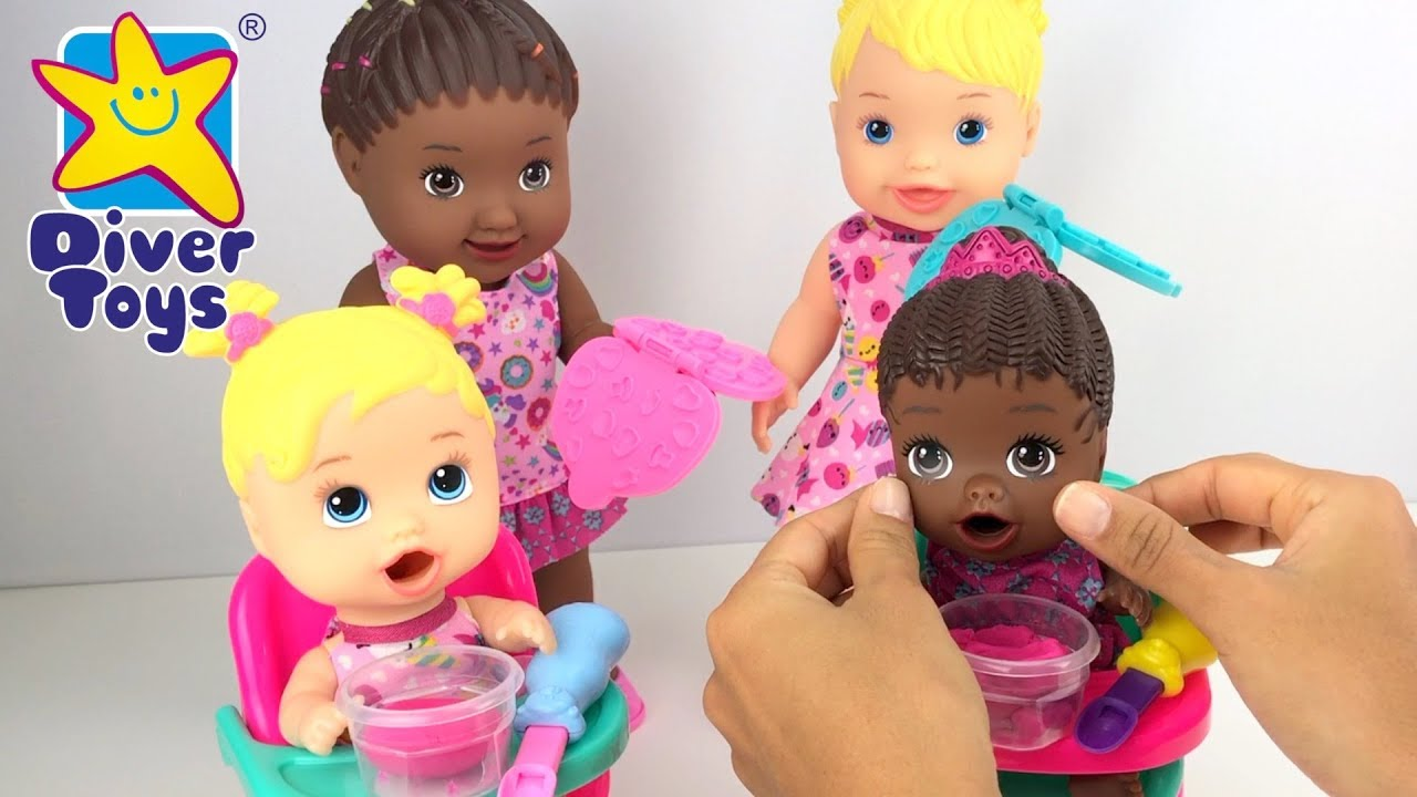 Boneca Que Come Papinha Vamos Brincar De Massinha Youtube