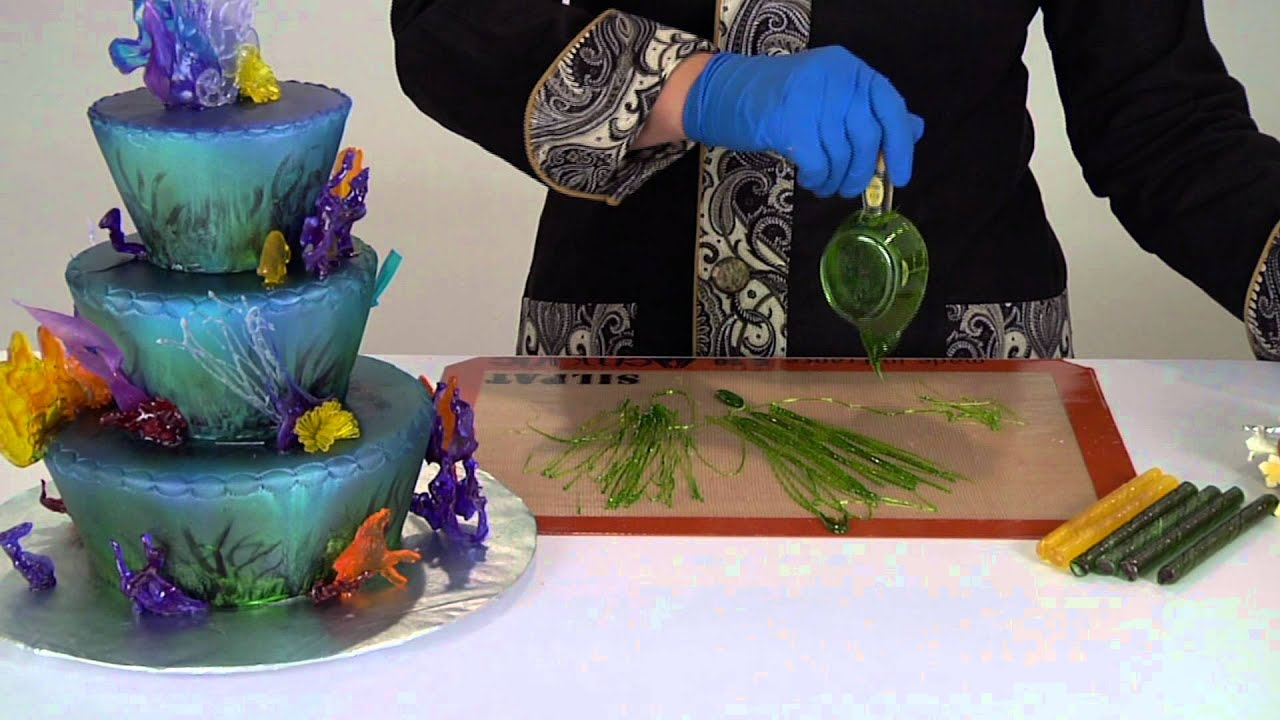 Cake Boss Artist : Drizzle Decorations with CakePlay Isomalt - YouTube