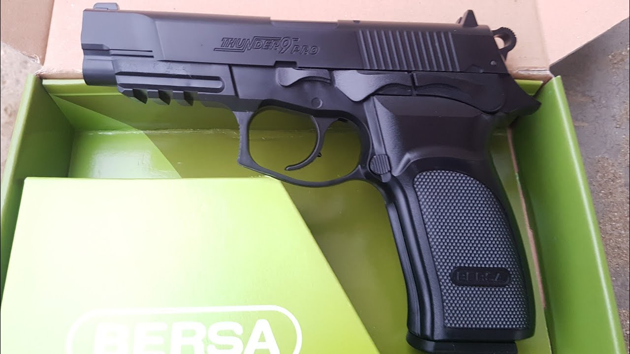 Bersa Thunder 9 Pro Co2-Power Upgrade w 6mm 0 30 gr MadBull Aluminium bbs  Airsoft Replica Pistol Gun