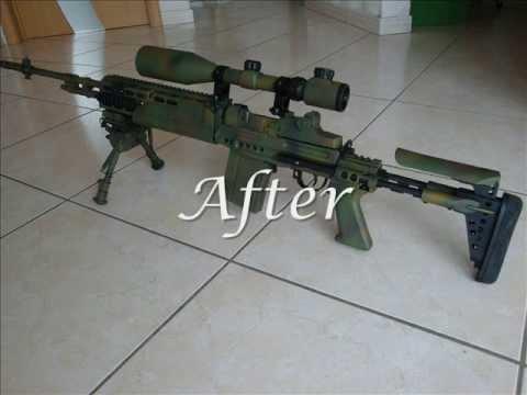 Airsoft paint job - M14 EBR - YouTube M14 Ebr Airsoft