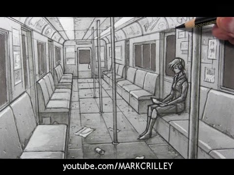 drawing time lapse subway car interior youtube. Black Bedroom Furniture Sets. Home Design Ideas