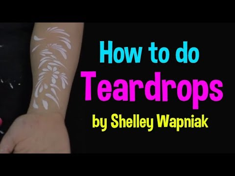 Art of Face Painting – How To Do Tear Drops Tutorial
