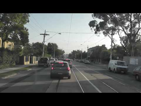 Melbourne Tram Drivers View a screaming Z1 9 tram on Route 16 Malvern Depot to Kew April 10th 2013