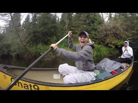 gopro canoe camping trip 2017 tremblant
