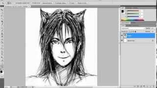 Lesson №8 'How To Draw!' (Рисуем голову на примере волка-оборотня)(В этом уроке я показала как можно нарисовать голову человека на примере получеловека-полуволка Комментир..., 2014-02-05T17:28:26.000Z)