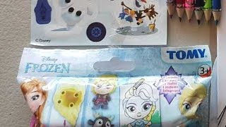 Learn colors|coloring frozen Elsa disney page|frozen adventure coloring & frozen buildable bag unbox