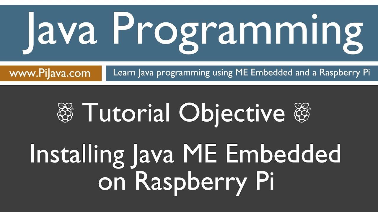 Java programming on raspberry pi installing java me embedded youtube java programming on raspberry pi installing java me embedded baditri Gallery