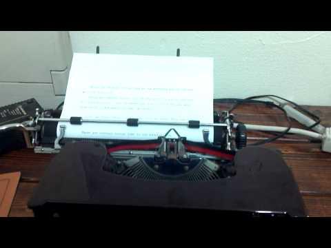 1936 Corona Silent Typewriter