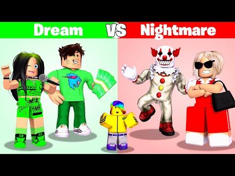Roblox DREAM Family vs NIGHTMARE Family.. 😴🤡