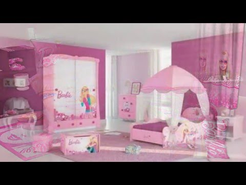 Background Wall Decoration For Cute Barbie Bedroom Design Theme