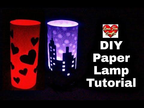 DIY - Paper Lamp Tutorial | How to Make Paper Lamp