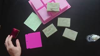 Soap Stamping Practices - Coconut (hard) Soap